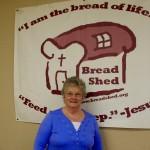 Bread Shed board member Carol Wilhelmy
