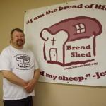 Bread Shed board member Greg Carman