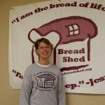 Bread Shed board member Sherri Emery