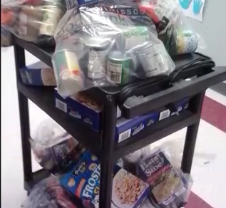 Food collection for backpacks