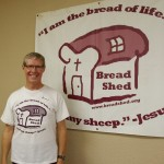 Bread Shed board member Brian Sharp