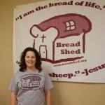 Bread Shed board member Cheryl Baker