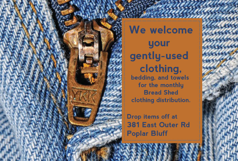 We welcome your gently-used clothing and linens